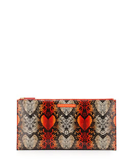 Marc By Marc Jacobs Snake Heart Annabelle Clutch Bag, Infrared Multi