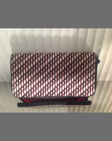Christian Louboutin Panettone Spiked Zip Wallet Red