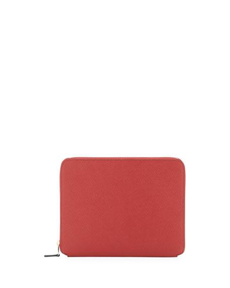 Smythson Panama A5 Zip Folio & Journal, Red