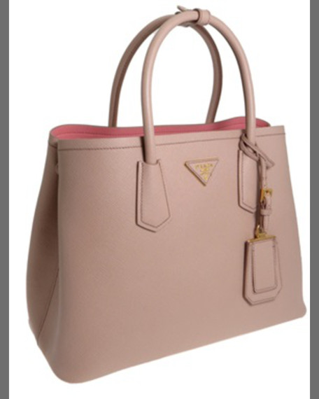 prada pink leather bag