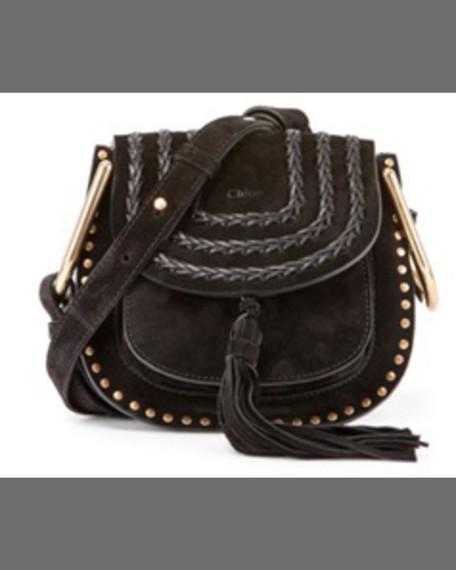 ChloeHudson Mini Suede Shoulder Bag, Caramel
