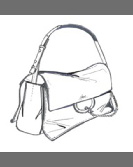 Chloe Faye Suede and Leather Medium Shoulder Bag, Motty Grey