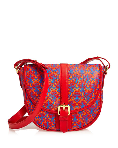 Liberty London Carnaby Iphis Printed Crossbody Bag, Red