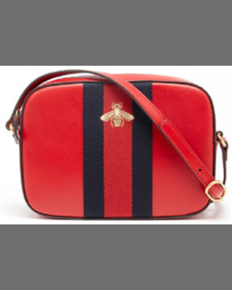 GUCCI Leather Shoulder Bag, Hibiscus