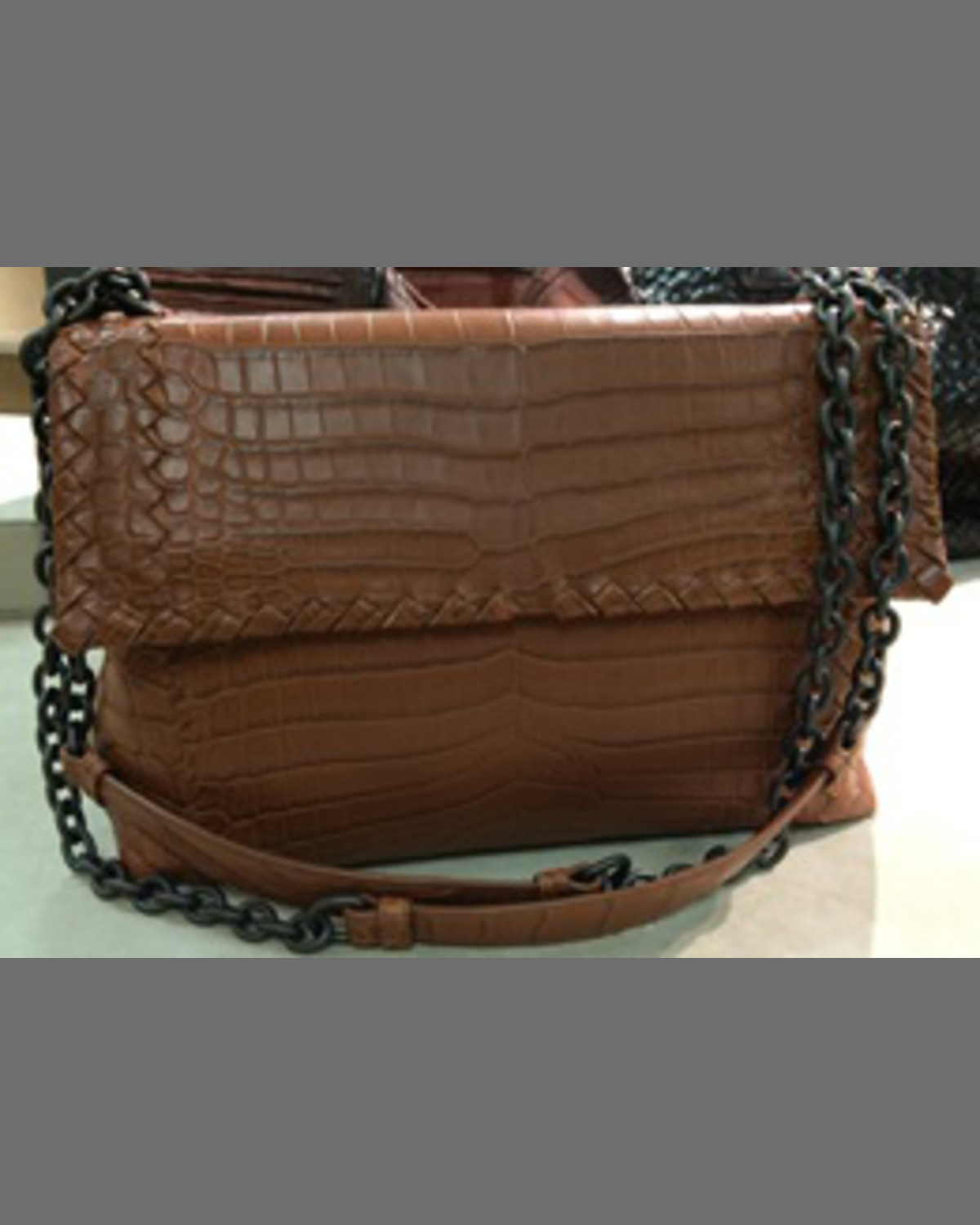 042213e1c1 Bottega Veneta Olimpia Small Exotic Shoulder Bag