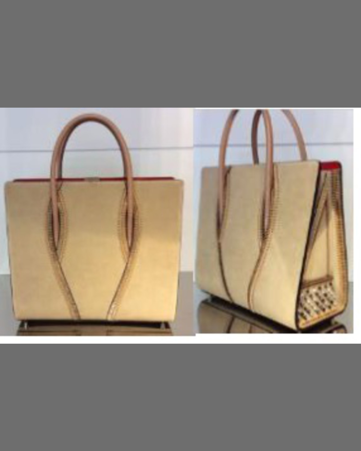 9a828669ca5 Paloma Large Trepointe Suede Tote Bag, Ivory