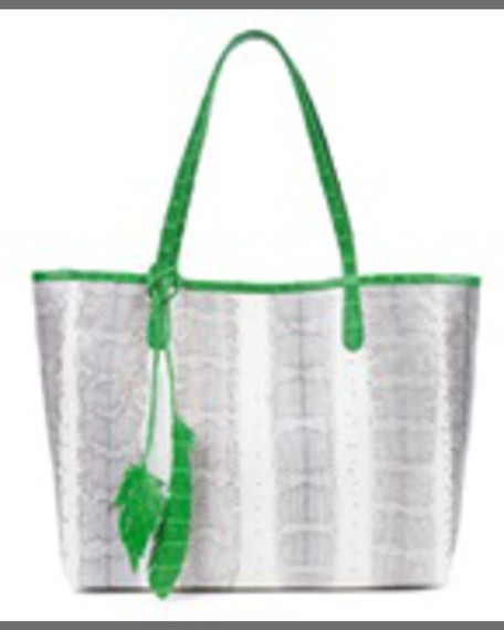 Nancy Gonzalez Erica Crocodile Leaf Tote Bag