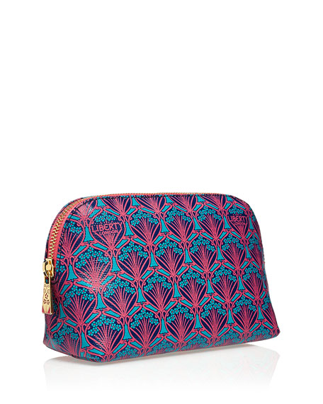 Iphis Printed Canvas Cosmetics Bag, Navy