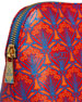 Iphis Printed Canvas Cosmetics Bag, Red