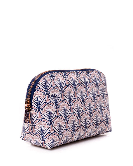 Iphis Printed Canvas Cosmetics Bag, Blush