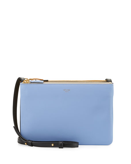 Celine Trio Small Tricolor Shoulder Bag, Porcelain