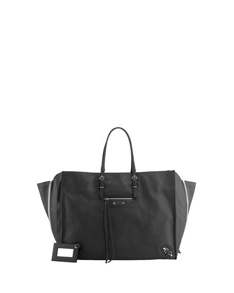 Balenciaga Papier A4 Side Zip Tote Bag, Gris