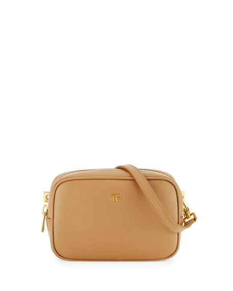 TOM FORD TF Leather Cosmetic Bag with Strap,