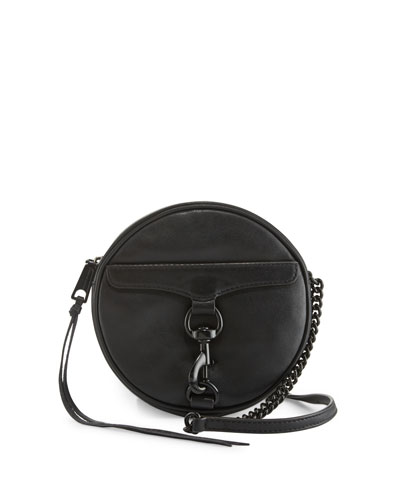 M.A.B. Circle Crossbody Bag, Black