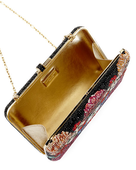 Meadow-Print Slim Slide Clutch Bag