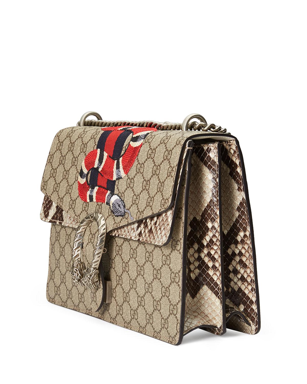 5656e1274 Gucci Dionysus Snake-Embroidered Crossbody Bag, Multi   Neiman Marcus