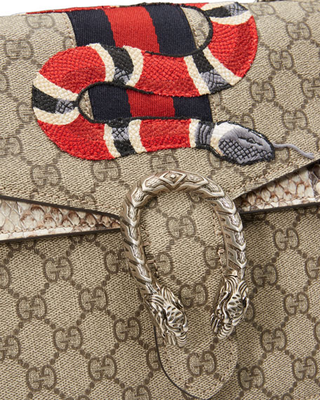 Dionysus Snake-Embroidered Crossbody Bag, Multi