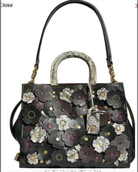 Coach 1941 Rogue Exotic Tea Rose Satchel Bag,