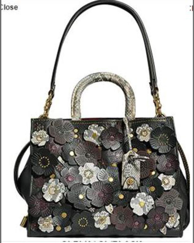 f8c9ce0cd5 Coach 1941 Rogue Exotic Tea Rose Satchel Bag