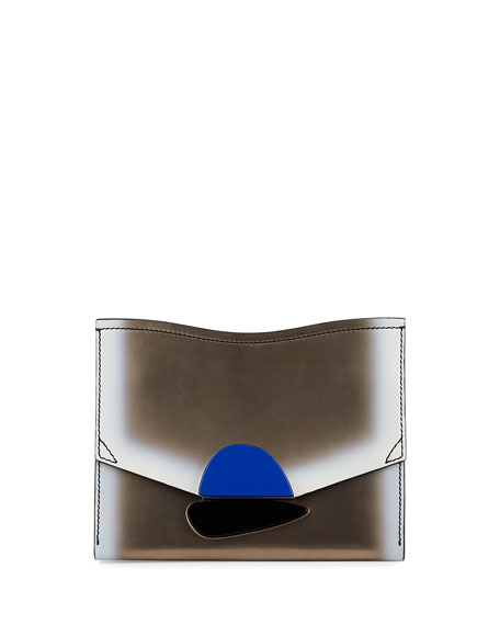 Proenza Schouler New Small Clutch Metallic Leather Bag,