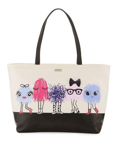 Kate Spade New York Imagination Francis Monster Tote Bag