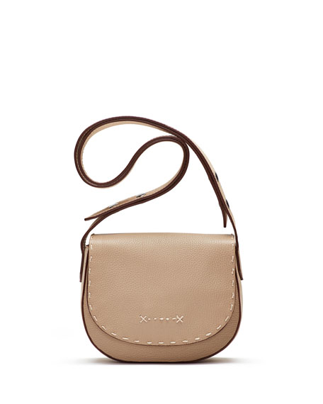 Zoe Mini Leather Saddle Bag