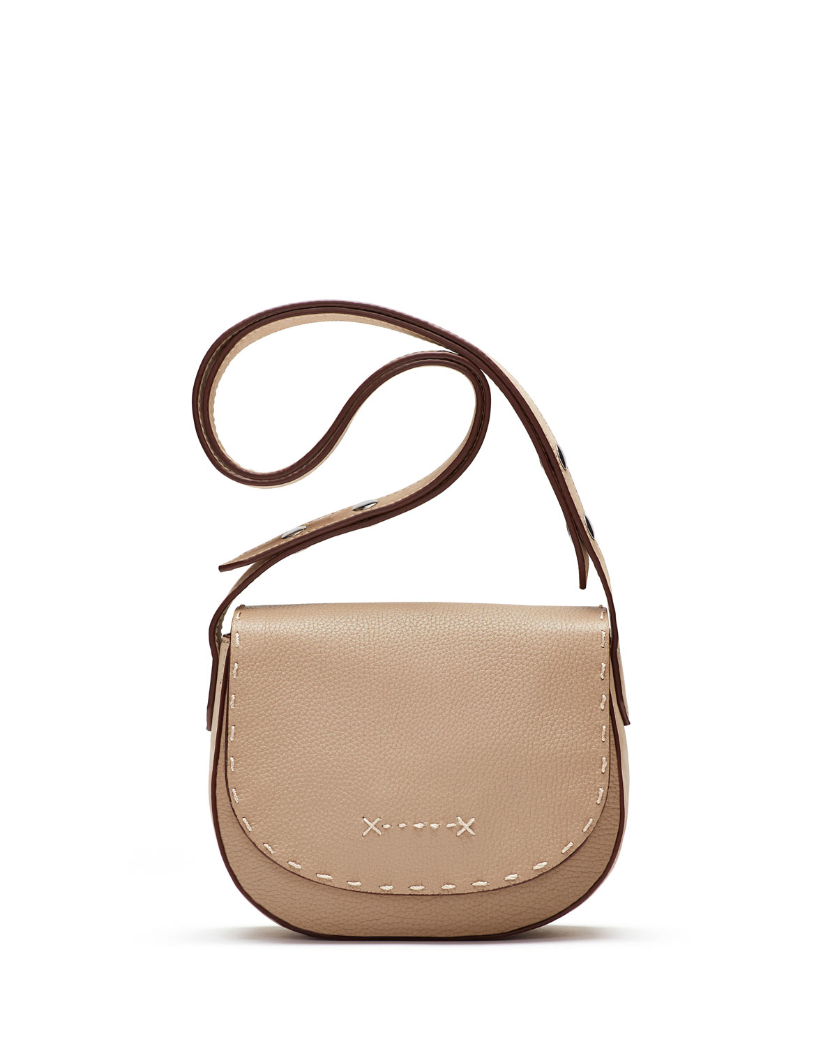 9d102904f0 Elizabeth   James Zoe Mini Leather Saddle Bag