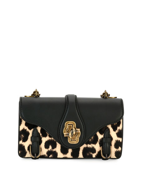 Bottega Veneta City Knot Calf-Hair Shoulder Bag, Leopard
