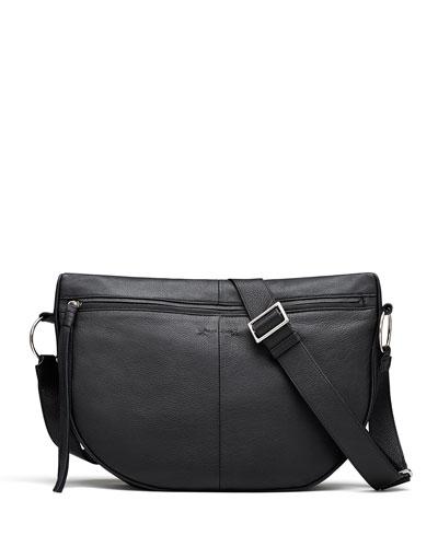 Finley Moon Leather Saddle Bag, Black
