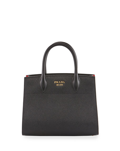 Prada Biblioth??que Small Saffiano Accordion Tote Bag