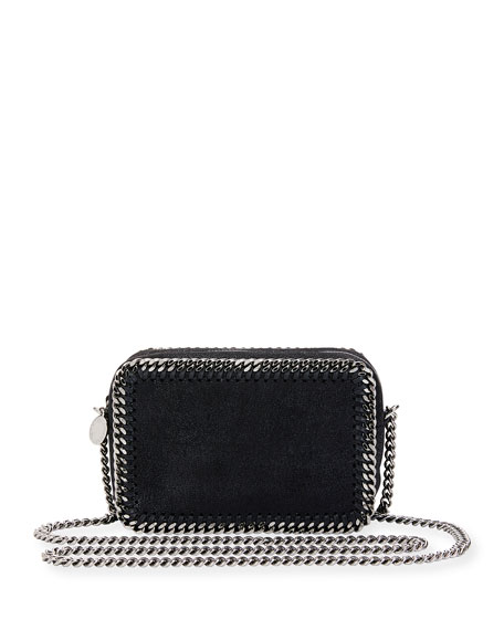 Stella Mccartney Falabella Whipsch Camera Crossbody Bag In Black
