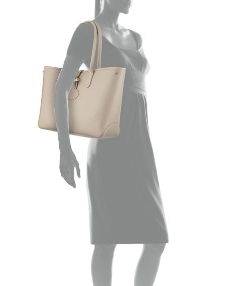 Roseau Reversible Leather Shoulder Tote Bag