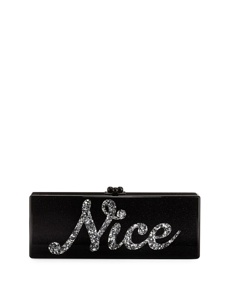 Edie Parker Naughty & Nice Flavia Clutch Bag,