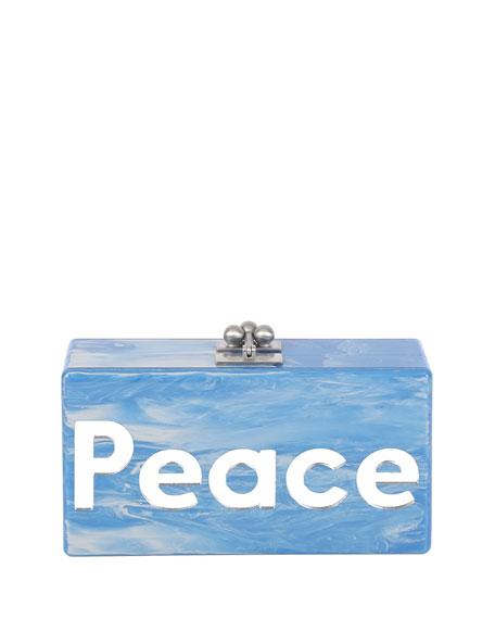 Edie Parker Jean Peace & Love Acrylic Clutch