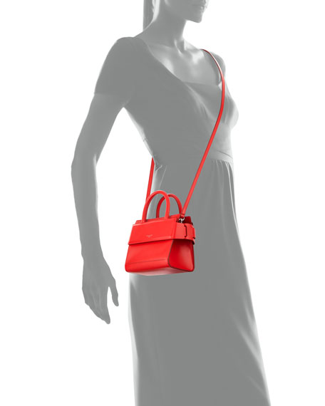 Horizon Nano Smooth Crossbody Bag, Red
