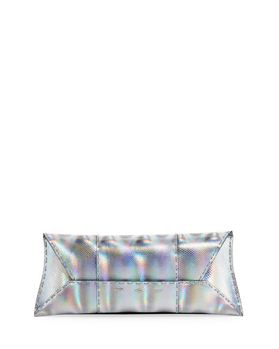 VBH Manila Stretch Karung Clutch Bag, Silver