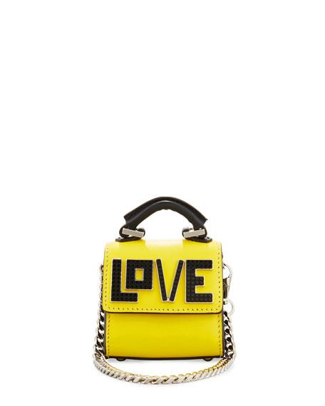Nano Alex Black Widow Charm for Handbag, Yellow/Black