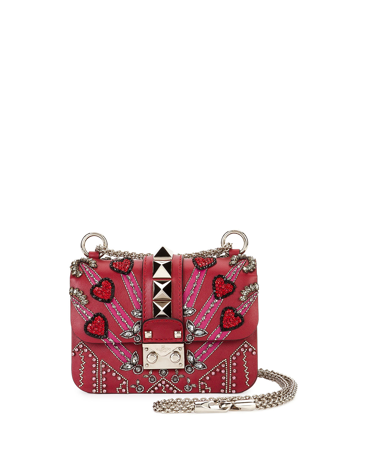 e1a6012dd3b Valentino Garavani Lock Mini Love Blade Shoulder Bag, Red | Neiman ...