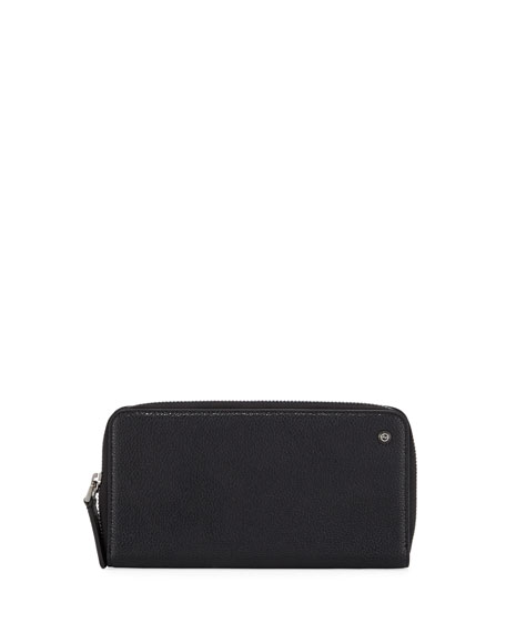 Giorgio Armani Leather Zip-Around Wallet