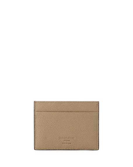 Caviar Leather Card Case, Beige