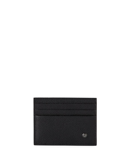 Caviar Leather Card Case, Black
