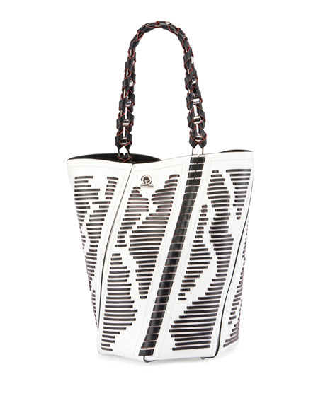 Proenza Schouler Hex Medium Woven Leather Bucket Bag,