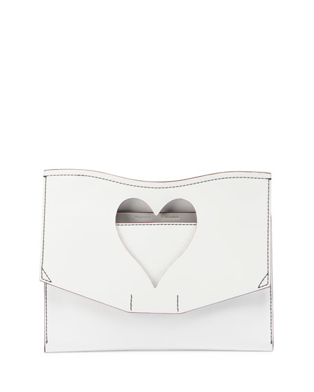 Curl Medium Cutout Clutch Bag, White