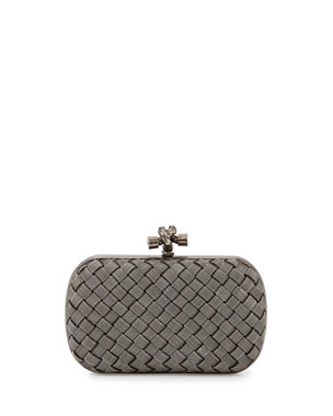 6bcdc4909c Bottega Veneta Metal Intrecciato Knot Frame Clutch Bag