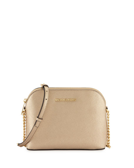 Cindy Large Dome Crossbody Bag Pale Gold