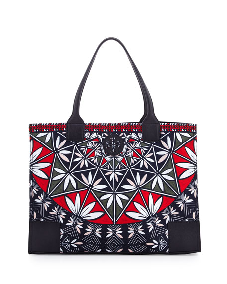 Tory Burch Ella Printed Packable Tote Bag, Pottery