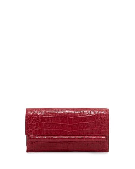 Small Crocodile Bar Clutch Bag