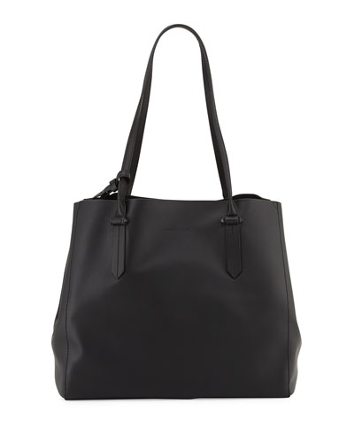 Izzy Unlined Tote Bag, Rose Cloud/Black