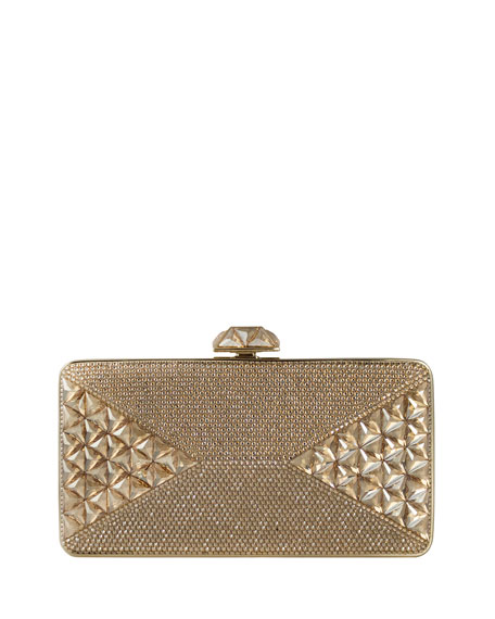 Judith Leiber Couture Diamond Crystal Box Clutch Bag