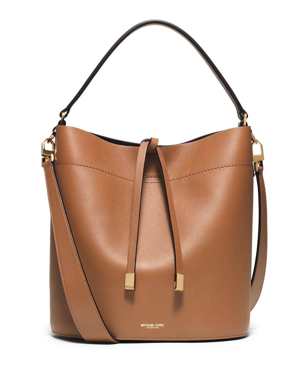 ada7a2eb63 Michael Kors Miranda Medium Leather Shoulder Bag